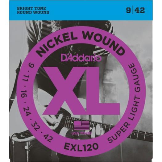 D'Addario EXL120 Light    9-42