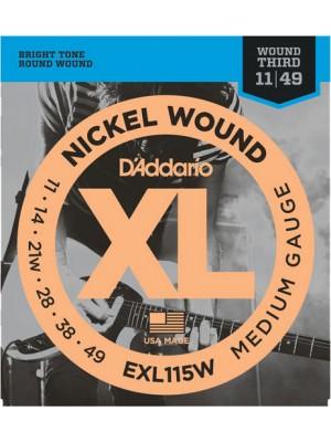 D'Addario EXL115W Jaz/Rk 11-49