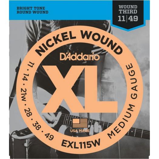 D'Addario EXL115W Medium 11-49