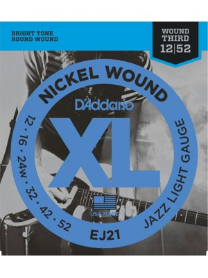 D'Addario EJ21 Jazz Light12-52