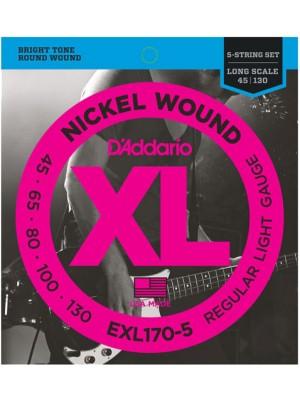 D'Addario EXL170-5 ni 45-130
