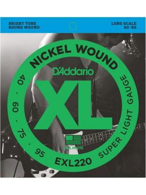D'Addario EXL220 ni Bass 40-95