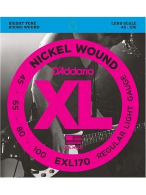 D'Addario EXL170 ni Bass45-100