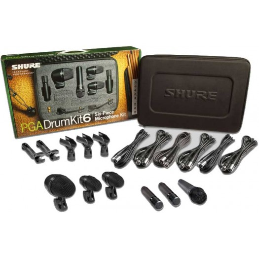 Shure Drumkit6-XLR Mic Set